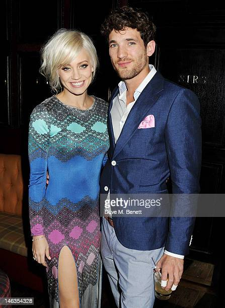Kimberly Wyatt and model Max Rogers attend as Tommy Hilfiger hosts a cocktail party to celebrate the launch of London Collections Men at The Scotch...