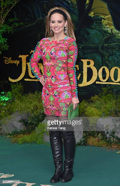 Kimberly Wyatt arrives for the European premiere of 'The Jungle Book' at BFI IMAX on April 13 2016 in London England