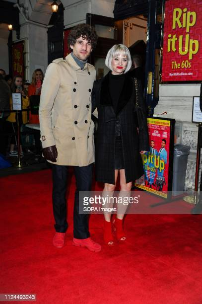 Kimberly Wyatt arrives for the Rip It Up press night Strictly Come Dancing champions bring the swinging 60's to the West End Garrick Theatre