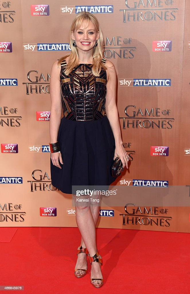 Kimberly Wyatt arrives for the world premiere of Game of Thrones Season 5 at Tower of London on March 18, 2015 in London, England.