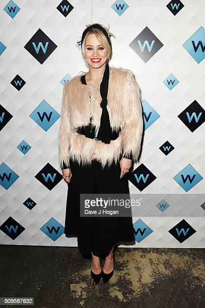 Kimberly Wyatt attends a celebration of the new TV channel 'W' launching on Monday 15th February at Union Street Cafe on February 11 2016 in London...