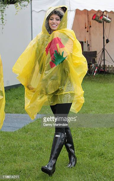 Kimberly Wyatt attends on day two of T In The Park at Balado on July 9 2011 in Kinross Scotland