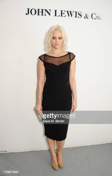 Kimberly Wyatt attends the John Lewis debut presentation at London Collections Men where the British retailer showcased its John Lewis Co...