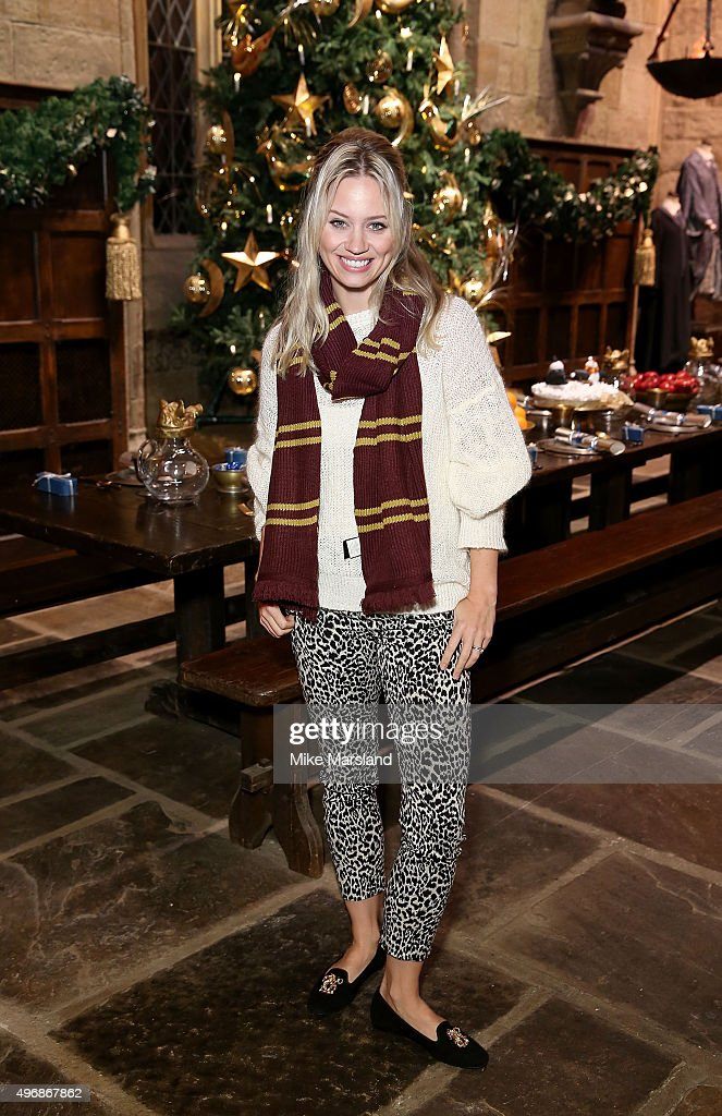 Kimberly Wyatt attends the Launch Of Hogwarts In The Snow at Warner Bros. Studio Tour London on November 12, 2015 in Watford, England.