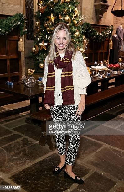 Kimberly Wyatt attends the Launch Of Hogwarts In The Snow at Warner Bros Studio Tour London on November 12 2015 in Watford England
