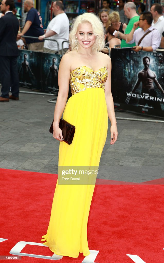 Kimberly Wyatt attends the UK film premiere of 'The Wolverine' at The Empire Cinema on July 16, 2013 in London, England.