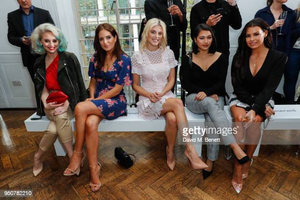 Kimberly Wyatt Binky Felstead Ashley James Vanessa White and Jess Wright attend Michelle Keegan's first catwalk show for Verycouk at One Marylebone...