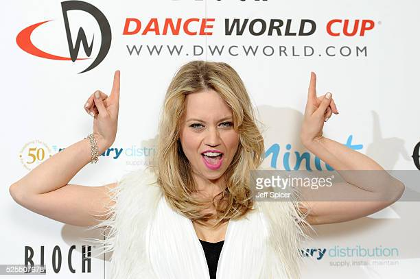 Kimberly Wyatt launches the 2016 annual BLOCH Dance World Cup on April 28 2016 in London England
