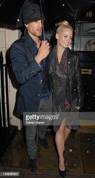 Kimberly Wyatt leaving The Royal Haymarket Theatre on June 3 2012 in London England