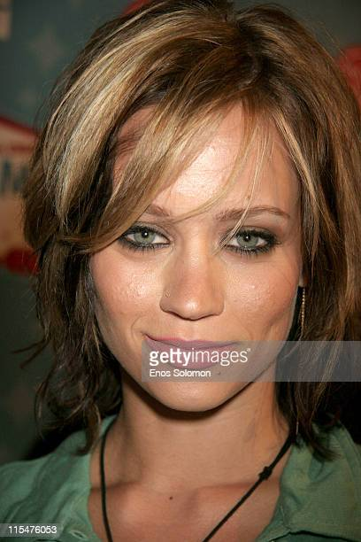 Kimberly Wyatt of Pussycat Dolls during LG Mobile TV Party at Stage 14 Paramount Studios in Hollywood CA United States