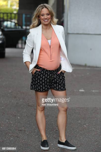 Kimberly Wyatt seen leaving the ITV Studios after appearing on Lorraine on May 10 2017 in London England