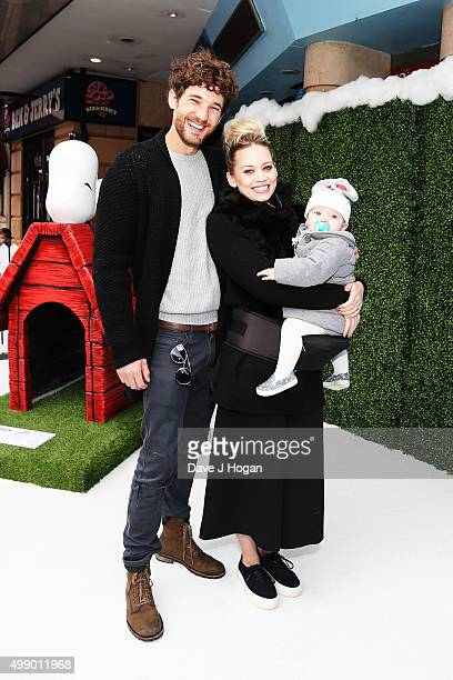 Kimberly Wyatt with daughter Willow and husband Max Rogers attend the UK Gala Screening of 'Snoopy and Charlie Brown A Peanuts Movie' at Vue West End...