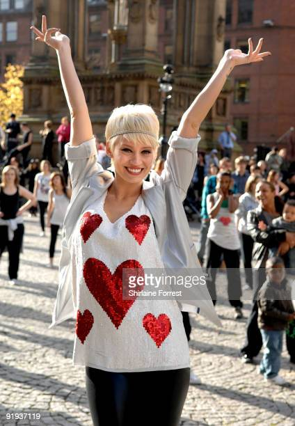 Kimberly Wyattl attends the mass dance routine for the new Sky 1 Just Dance programme Scheduled for broadcast in January 2010 the ninepart series...