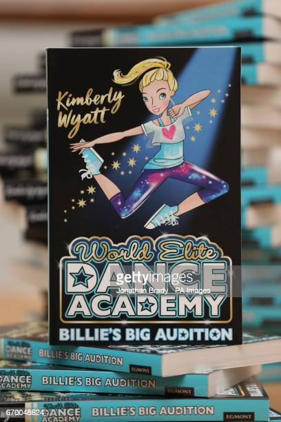 Kimberly Wyatt's new book 'Billie's Big Audition' during a launch event held at Pineapple Dance Studios in London