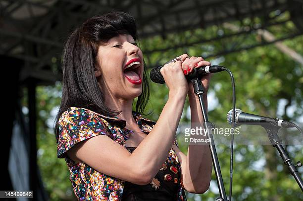 Kimbra performs at Rumsey Playfield, Central Park on May 30, 2012 in New York City.