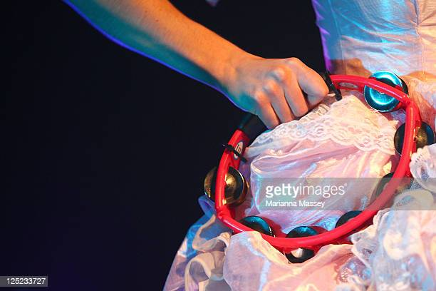 Kimbra performs live on stage at the Metro on September 16 2011 in Sydney Australia
