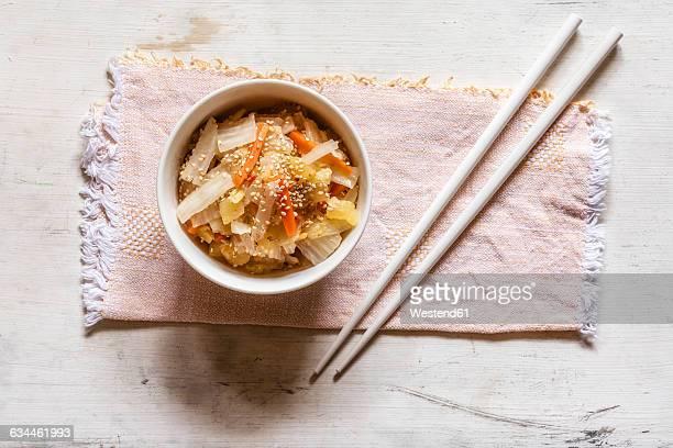 Kimchi, fermented Korean side dish made of vegetables