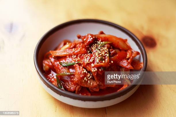 Kimchi fried pork,korea food