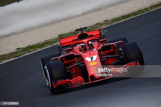 Kimi Raiikkoenen, Scuderia Ferrari, formula 1 GP, Test, Barcelona Spanien,