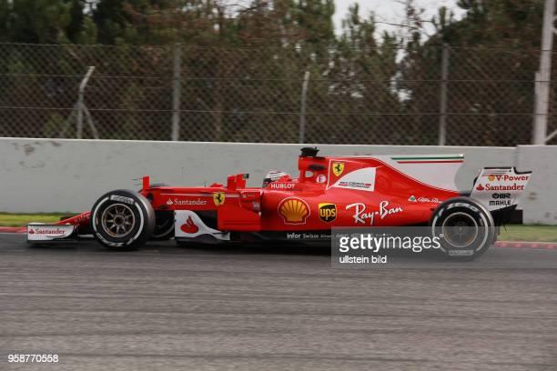 Kimi Raiikkoenen Scuderia Ferrari formula 1 GP Test Barcelona Spanien