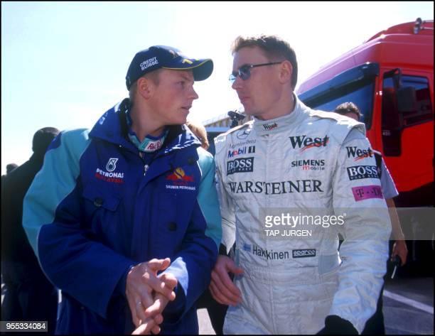 Kimi Raikkonen and Mika Hakkinen