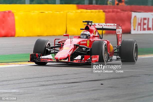 Kimi Raikkonen driving for the Scuderia Ferrari Team in action during the race of the 2015 Formula 1 Shell Belgian Grand Prix at Circuit de...