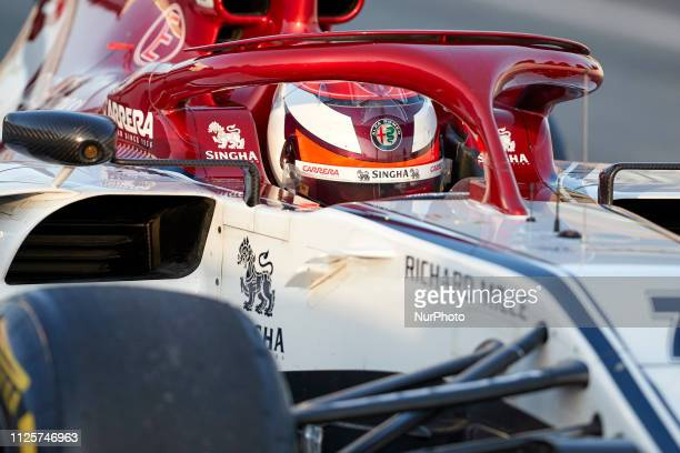 Kimi Raikkonen during the winter test days at the Circuit de Catalunya in Montmelo February 18 2019