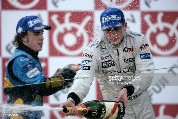 Kimi Raikkonen Fernando Alonso Grand Prix of Japan Suzuka Circuit 09 October 2005
