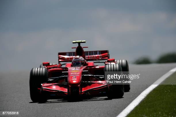 Kimi Raikkonen Ferrari F2007 Grand Prix of Great Britain Silverstone Circuit 08 July 2007 Kimi Raikkonnen winner of the 2007 British Grand Prix