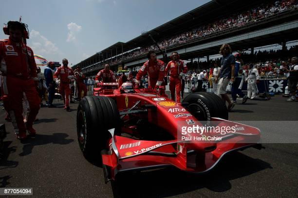Kimi Raikkonen, Ferrari F2007, Grand Prix of the United States, Indianapolis Motor Speedway, 17 June 2007. Kimi Raikkonnen on the starting grid of...