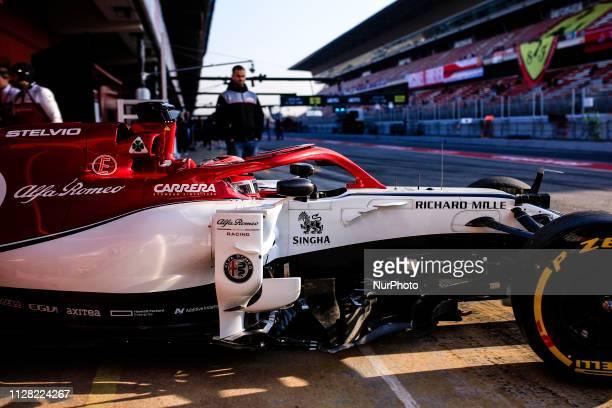 Kimi Raikkonen from Finland with 07 Alfa Romeo Racing in action during the Formula 1 2019 PreSeason Tests at Circuit de Barcelona Catalunya in...
