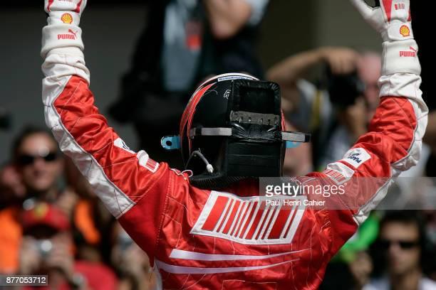 Kimi Raikkonen, Grand Prix of Brazil, Autodromo Jose Carlos Pace, Interlagos, Sao Paolo, 21 October 2007. Kimi Raikkonen after the finish of the 2007...