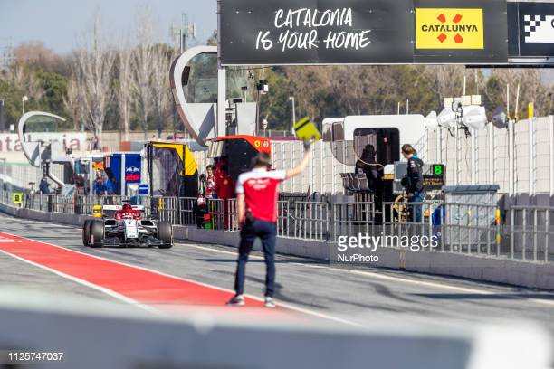 Kimi Raikkonen of Alfa Romeo Racing during the winter test days at the Circuit de Catalunya in Montmelo Spain on February 18 2019