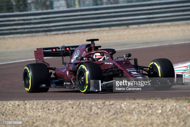 Kimi Raikkonen of Alfa Romeo Sauber Formula 1 Racing on track with Alfa Romeo Racing C38 during shakedown of the new car