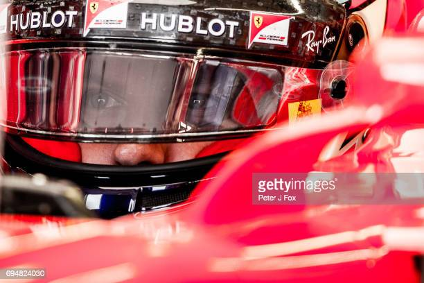 Kimi Raikkonen of Ferrari and Finland during qualifying for the Canadian Formula One Grand Prix at Circuit Gilles Villeneuve on June 10 2017 in...