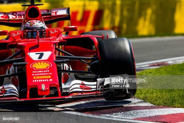 Kimi Raikkonen of Ferrari and Finland during the Canadian Formula One Grand Prix at Circuit Gilles Villeneuve on June 11 2017 in Montreal Canada