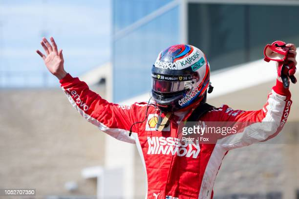 Kimi Raikkonen of Ferrari and Finland during the United States Formula One Grand Prix at Circuit of The Americas on October 21 2018 in Austin United...