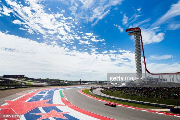 Kimi Raikkonen of Ferrari and Finland during the United States Formula One Grand Prix at Circuit of The Americas on October 21, 2018 in Austin,...