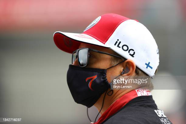 Kimi Raikkonen of Finland and Alfa Romeo Racing prepares to drive on the grid before the F1 Grand Prix of Russia at Sochi Autodrom on September 26,...
