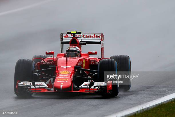 Kimi Raikkonen of Finland and Ferrari drives during final practice for the Formula One Grand Prix of Austria at Red Bull Ring on June 20 2015 in...