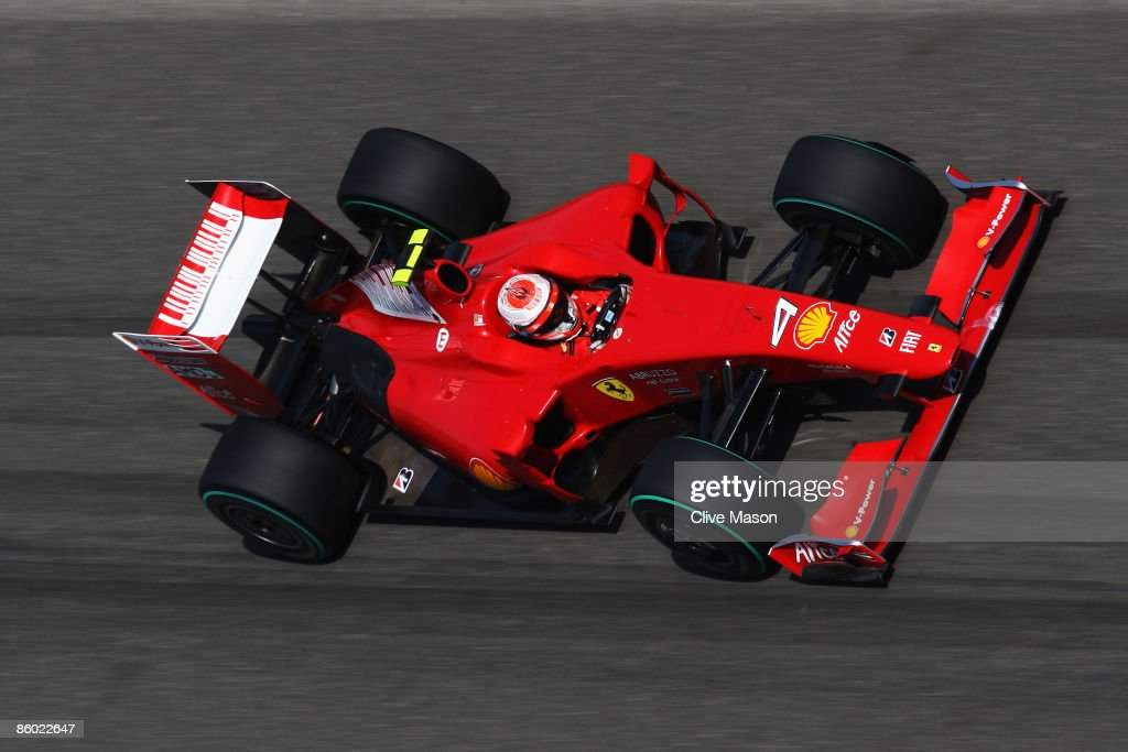 Kimi Raikkonen of Finland and Ferrari drives during qualifying for the Chinese Formula One Grand Prix at the Shanghai International Circuit on April 18, 2009 in Shanghai, China.
