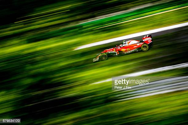 Kimi Raikkonen of Finland and Ferrari during qualifying for the Formula One Grand Prix of Hungary at Hungaroring on July 23 2016 in Budapest Hungary