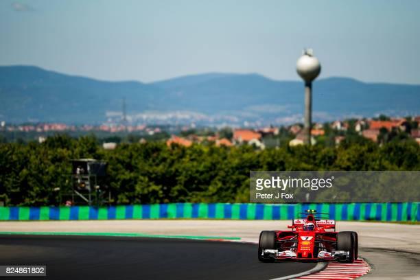 Kimi Raikkonen of Finland and Ferrari during the Formula One Grand Prix of Hungary at Hungaroring on July 30 2017 in Budapest Hungary