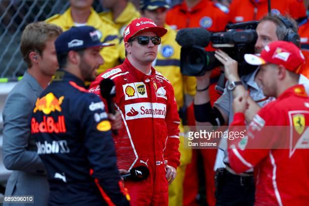 Kimi Raikkonen of Finland and Ferrari during the Monaco Formula One Grand Prix at Circuit de Monaco on May 28 2017 in MonteCarlo Monaco