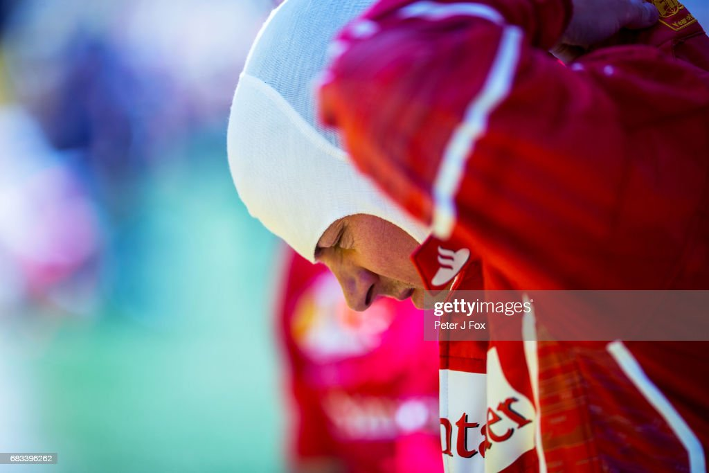 Kimi Raikkonen of Finland and Ferrari during the Spanish Formula One Grand Prix at Circuit de Catalunya on May 14, 2017 in Montmelo, Spain.