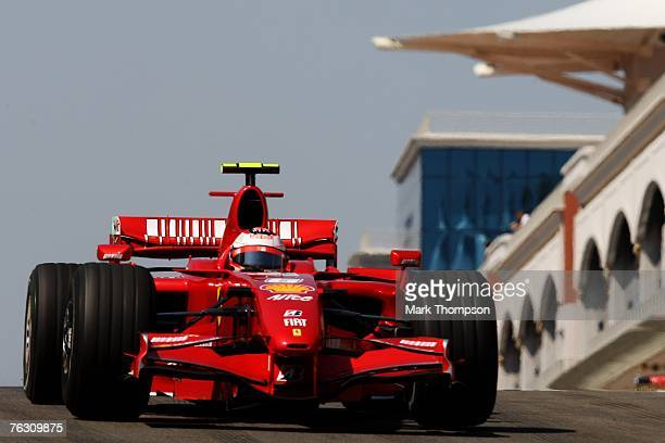 Kimi Raikkonen of Finland and Ferrari in action during Practice for the F1 Grand Prix of Turkey at Istanbul Park on August 24 in Istanbul, Turkey.