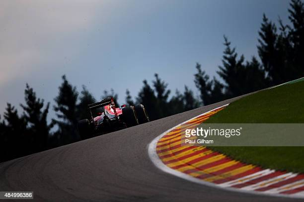 Kimi Raikkonen of Finland and Ferrari in action during the Formula One Grand Prix of Belgium at Circuit de SpaFrancorchamps on August 23 2015 in Spa...