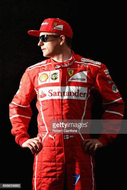 Kimi Raikkonen of Finland and Ferrari poses for a portrait during previews to the Australian Formula One Grand Prix at Albert Park on March 23, 2017...