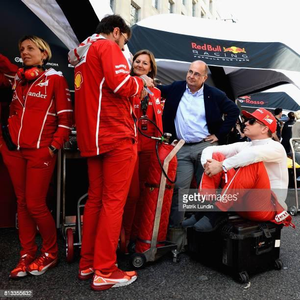 Kimi Raikkonen of Finland and Ferrari prepares to drive during F1 Live London at Trafalgar Square on July 12 2017 in London England F1 Live London...