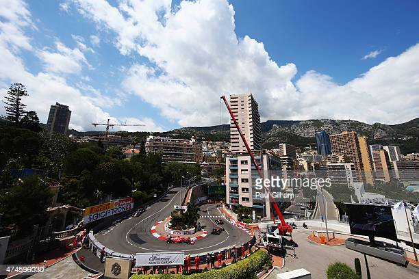Kimi Raikkonen of Finland and Ferrari rounds the hairpin during the Monaco Formula One Grand Prix at Circuit de Monaco on May 24 2015 in MonteCarlo...